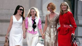 Kristin Davis, Sarah Jessica Parker, Cynthia Nixon, and Kim Cattrall in Sex and the City.