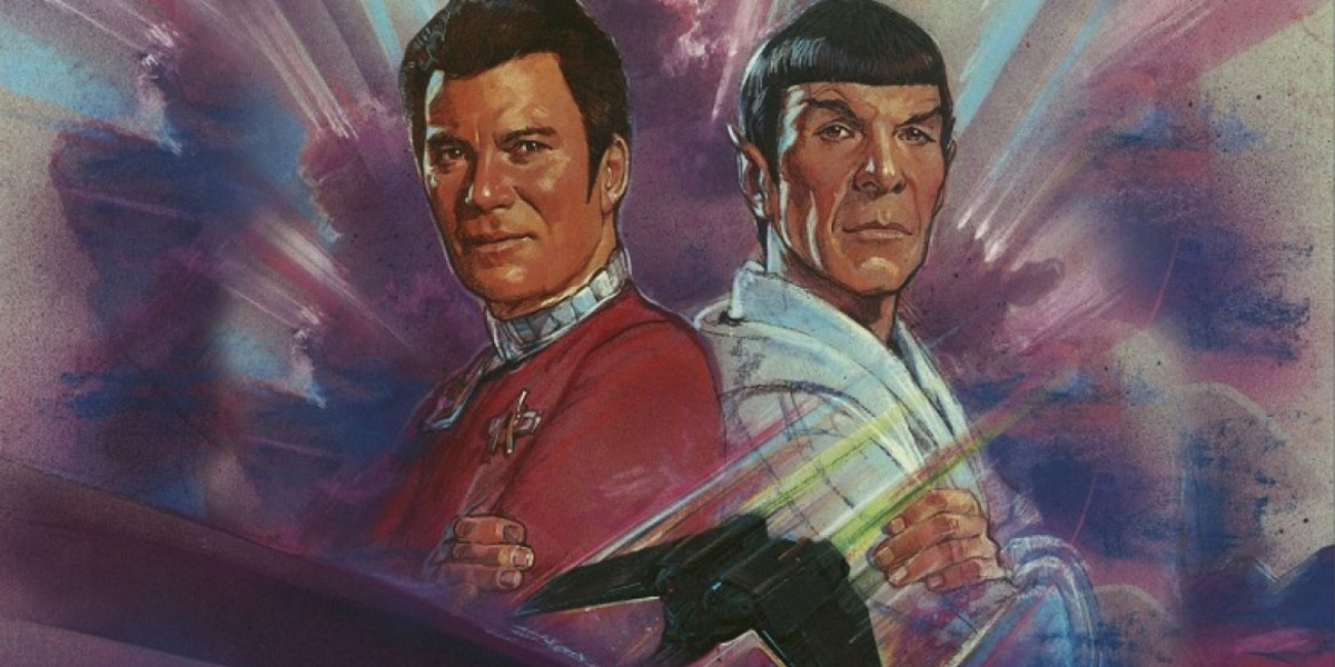 Star Trek IV: The Voyage Home Kirk and Spock in very colorful portraits
