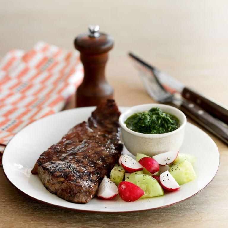 Sirloin Steak with Chimichurri Sauce recipe-Steak recipes-recipe ideas-new recipes-woman and home