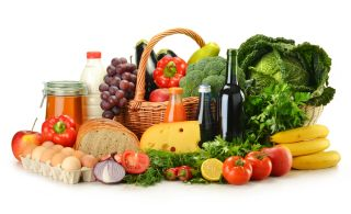 assorted foods, healthy diet
