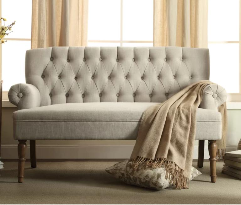 Small, tufted wayfair sofa on sale
