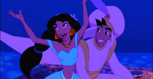 watch the original jasmine belt out aladdins a whole new