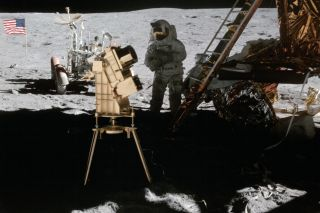 The Apollo 16 mission to the moon in 1972 included the first telescopic observations taken from the lunar surface.