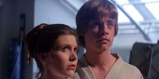 Leia and Luke in Empire Strikes Back