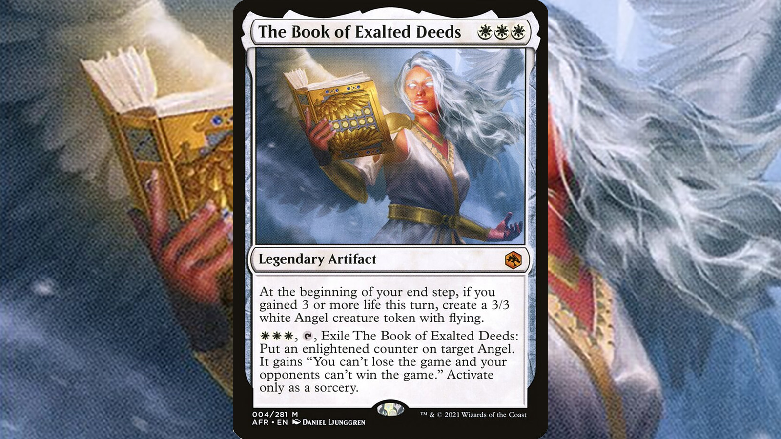 Magic the gathering card from the D&D crossover set