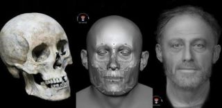 "Archaeologists at the University of Cambridge reconstructed the face of the so-called ""Context 958"" skeleton."