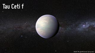 Planet Candidate Tau Ceti f