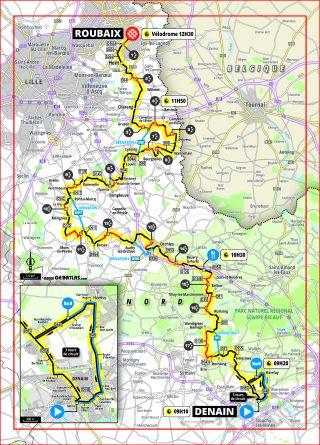 The route of the 2020 Women's Paris-Roubaix