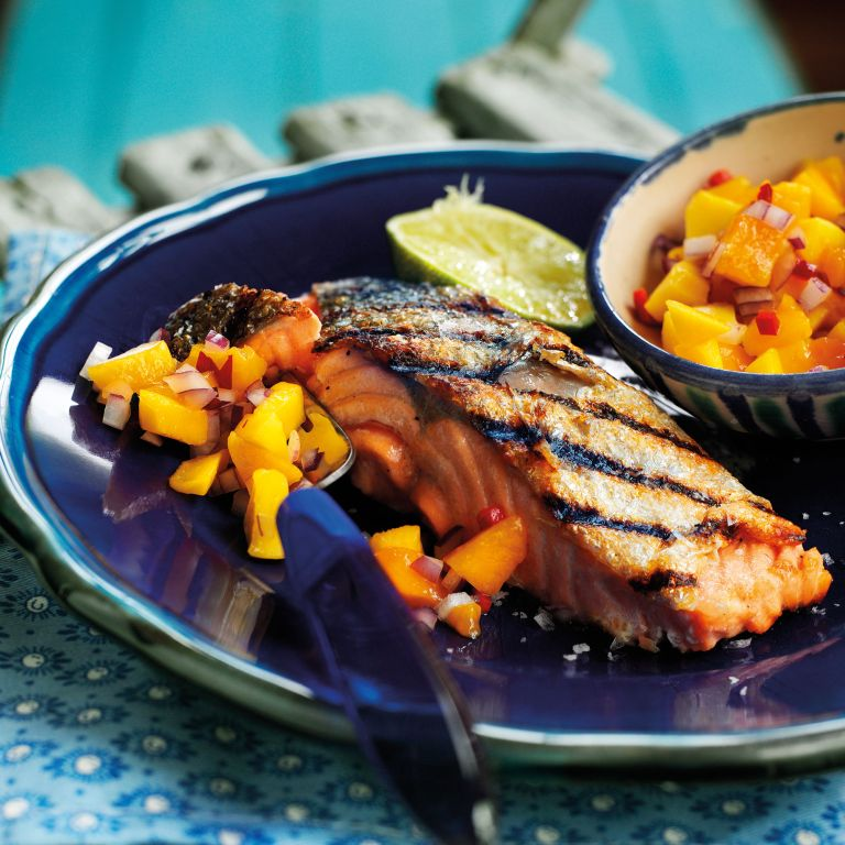 Salmon-Fillets-Mango-Chilli-Woman and home