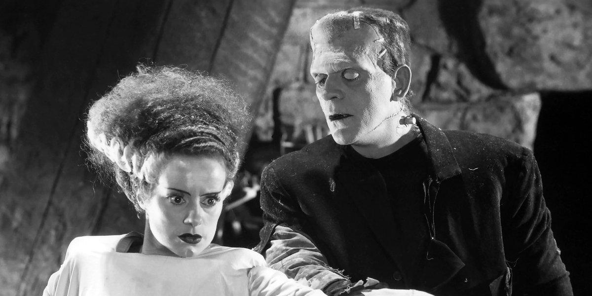 Elsa Lanchester and Boris Karloff in The Bride of Frankenstein