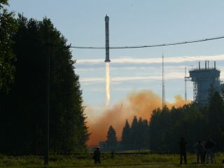 Russian Rocket Launches German Reconnaissance Satellite