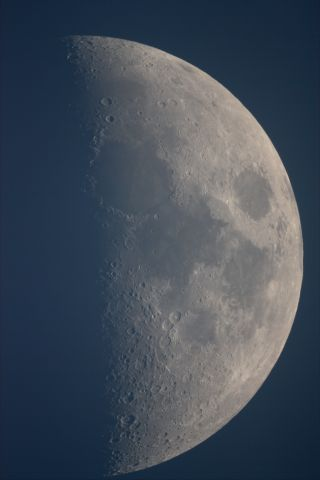 A daytime picture of the moon
