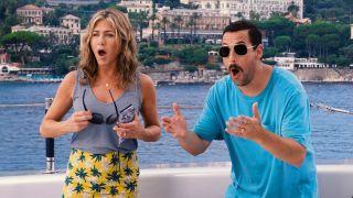 Adam Sandler and Jennifer Aniston in Netflix's Murder Mystery
