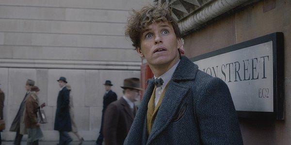 Eddie Redmayne's Newt Scamander in Fantastic Beasts: The Crimes of Grindelwald