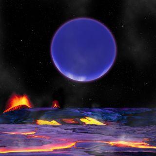 Alien planet Kepler-36c