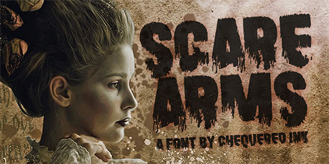 Free graffiti fonts: Scare Arms