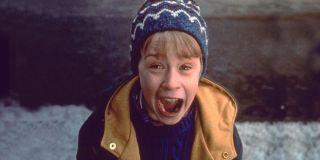Macaulay Culkin in Home Alone, scream face