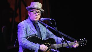 Singer/songwriter Elvis Costello performing