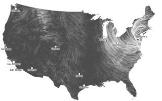 Sandy wind map