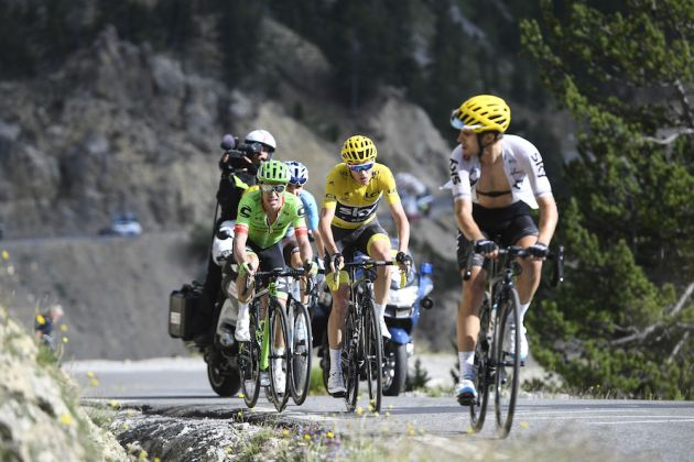 Thumbnail Credit (cyclingweekly.co.uk) (Photo: Yuzuru Sunada): Chris Froome lead Rigoberto Uran and Romain Bardet on the Col d'Izoard in the 2017 Tour de France (Sunada)
