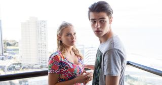 Ben Kirk and Xanthe Canning are shocked by Susan Kennedy's arrival in Neighbours.