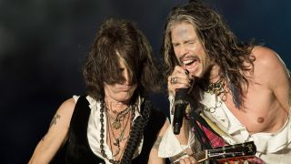 Joe Perry and Steven Tyler at Download 2014