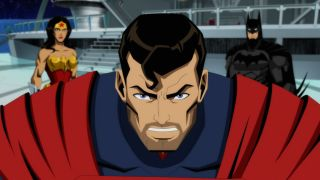Superman in the DC animated Injustice movie.