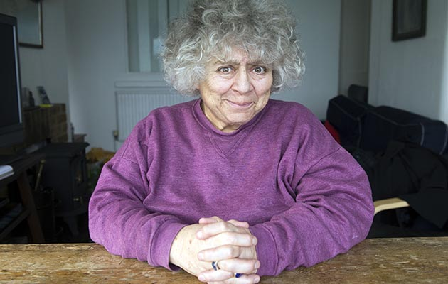 Miriam Margolyes Obe Bafta Award Winning Actress Photographed In St.margaret's Bay Near Dover Kent