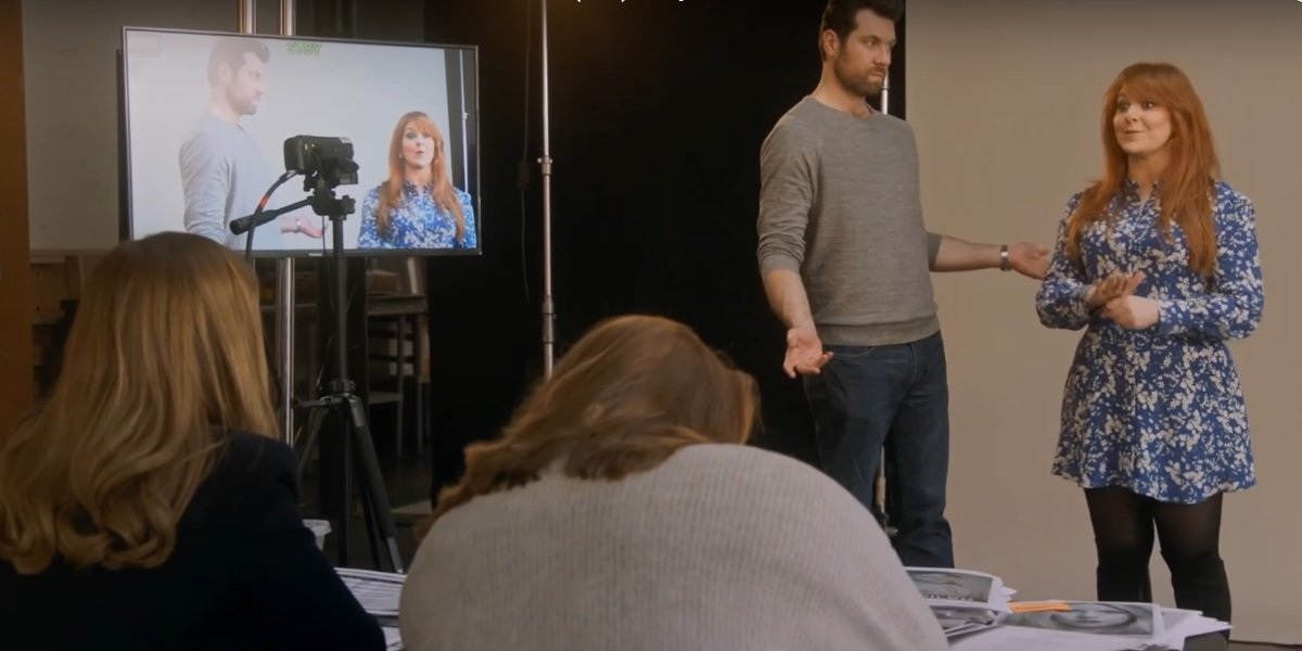 Billy Eichner and Julie Klausner in Hulu's Difficult People