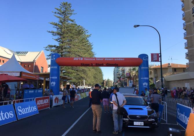 The stage 3 start in Glenelg