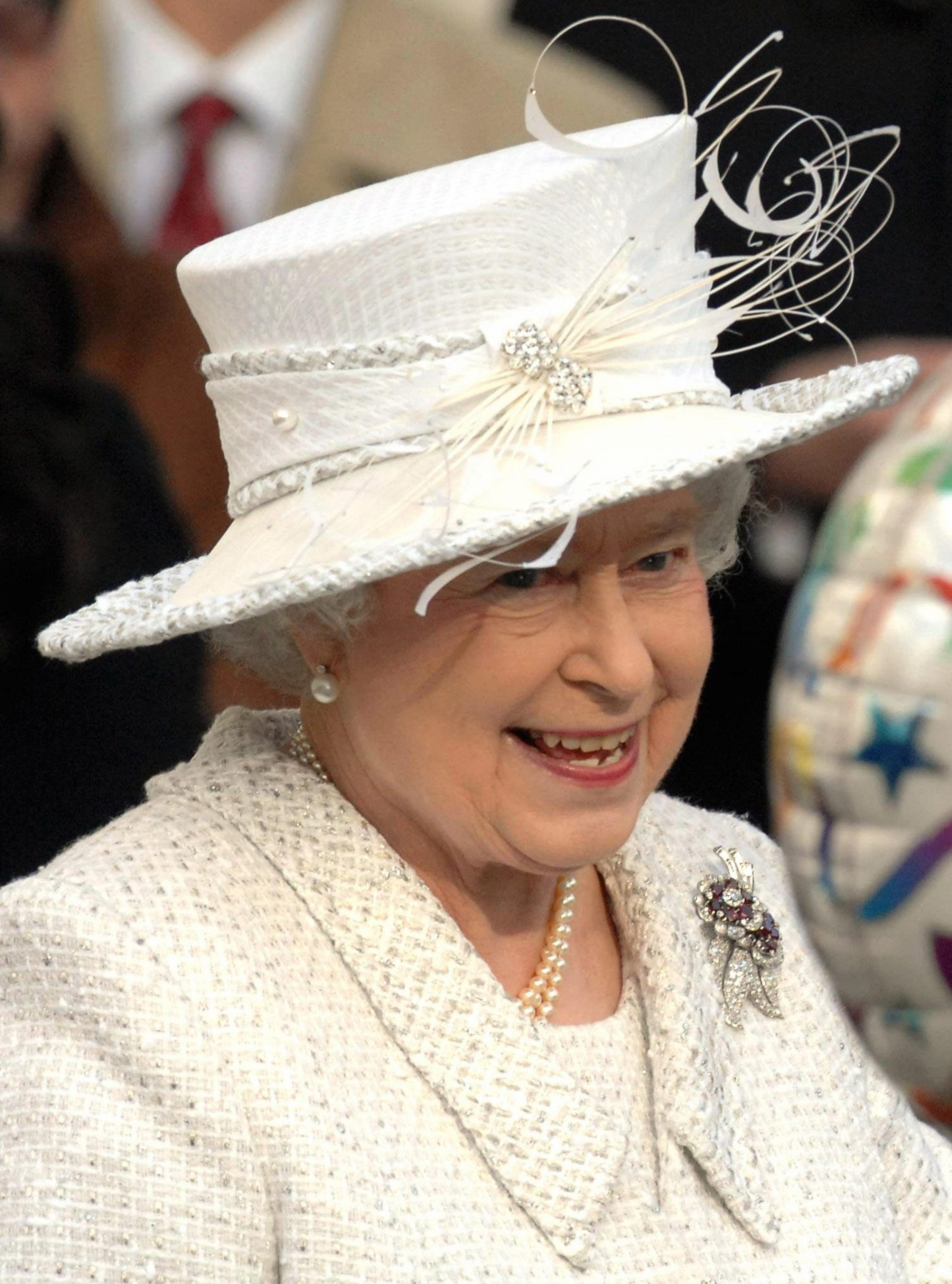 The Queen in a hat