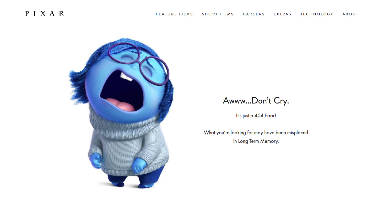 404 page: Pixar