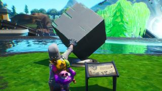 Fortnite Memorial To A Cube In The Desert And By A Lake
