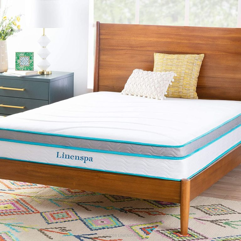 Linenspa 10 Inch Memory Foam and Innerspring Hybrid Mattress - Medium Feel