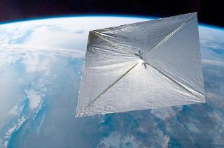 Artist's Illustration of LightSail in Orbit