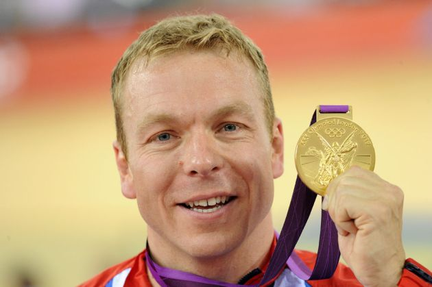 Sir Chris Hoy with keirin gold, London 2012 Olympic Games, track day six