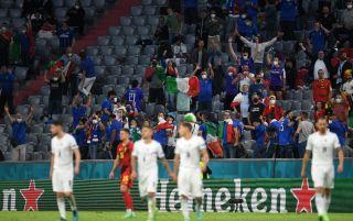 Italy Spain fans Wembley