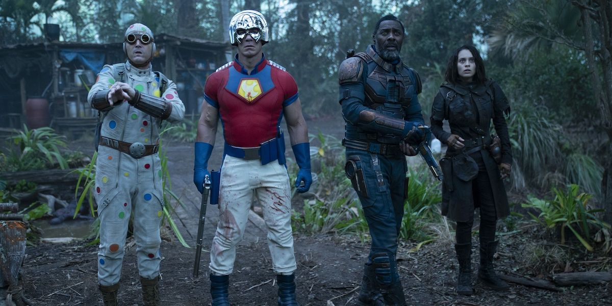 Polka-Dot Man, Peacemaker, Bloodsport and Ratcatcher in The Suicide Squad