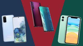 Motorola Edge, Samsung Galaxy S20 und iPhone 11 im Vergleich