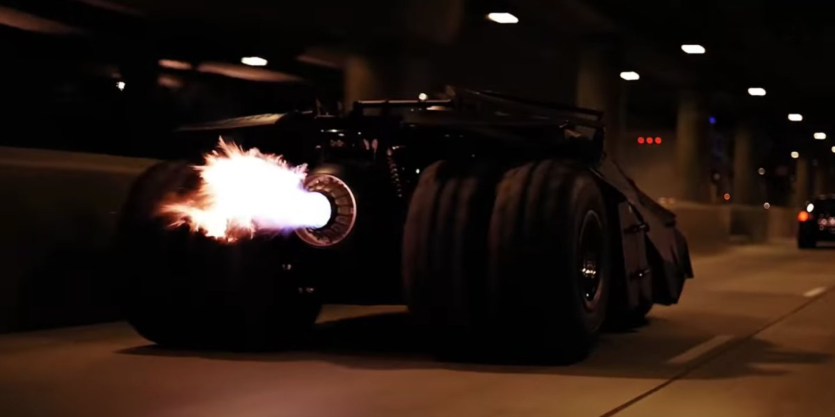 The rocket booster on Batman's Tumbler in The Dark Knight