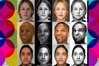 Portraits showing the results of the MIT algorithm.