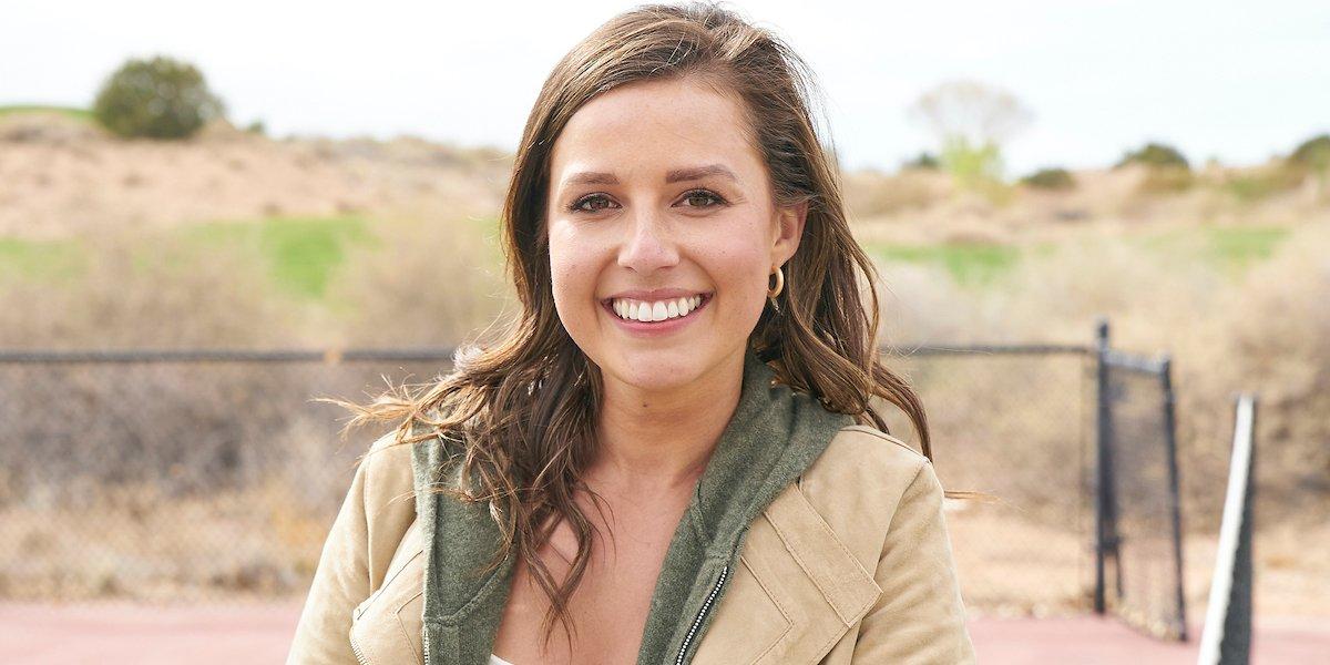 The Bachelorette Katie Thurston smiles in the desert press photo