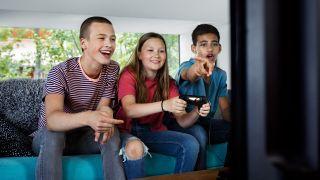 Barn som spiller dataspill