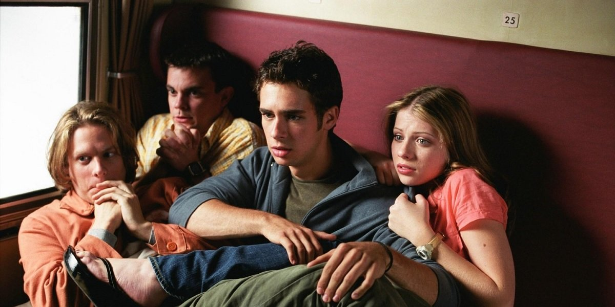 Michelle Trachtenberg, Jacob Pitts, Travis Wester, and Scott Mechiowicz in EuroTrip