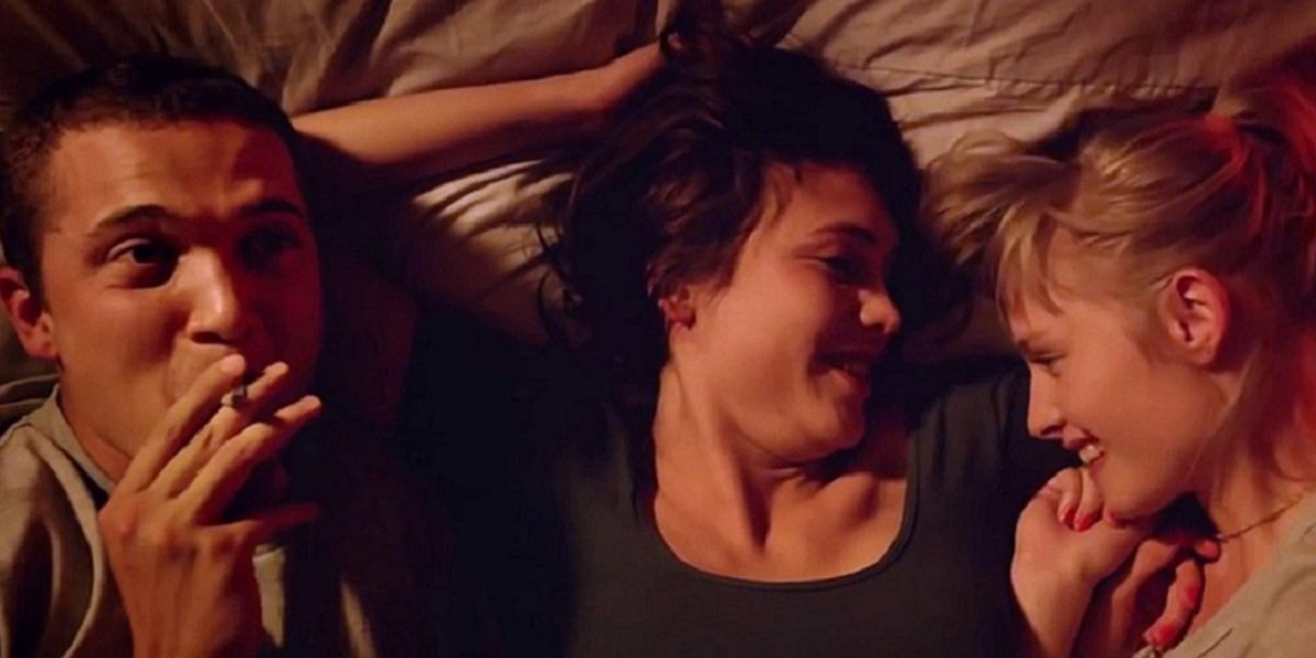 Klara Kristin, Karl Glusman, and Aomi Muyock in Gaspar Noe's Love