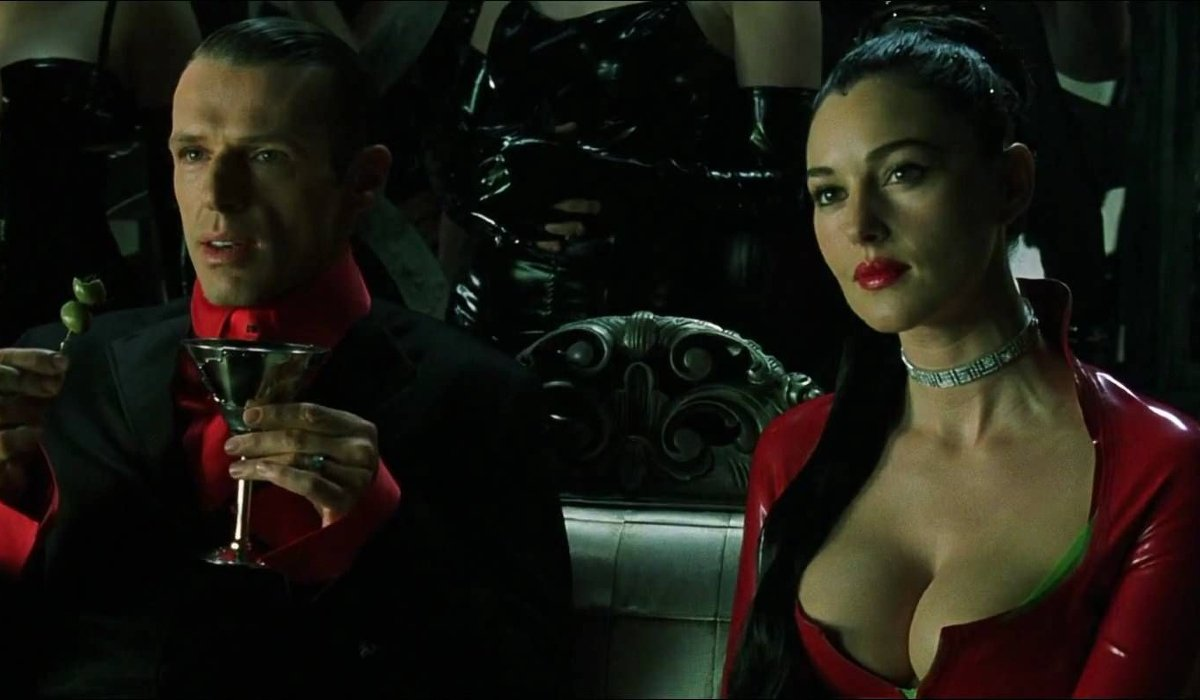 The Matrix Revolutions The Merovingian and Persephone at Club Hel