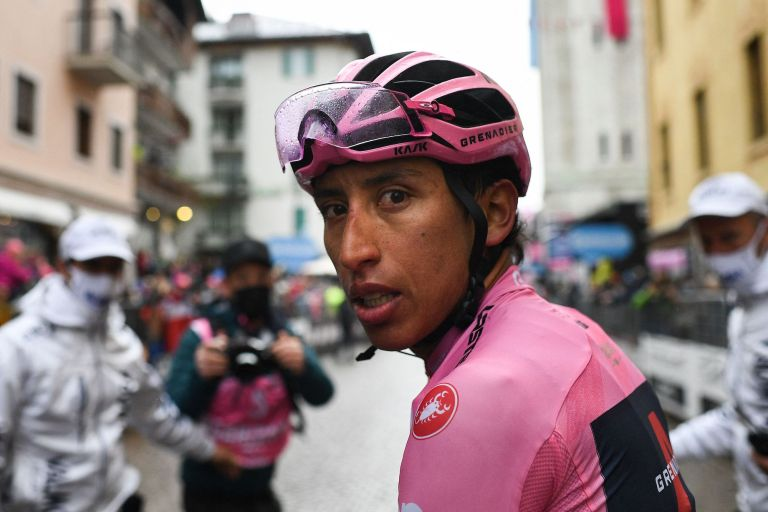 Egan Bernal after stage 16 of the Giro d'Italia 2021
