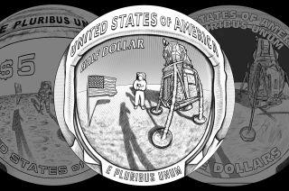 us mint apollo 11 coins reverse designs