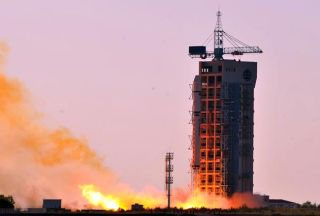 Long March 2D Rocket Launch on Sept. 4, 2014