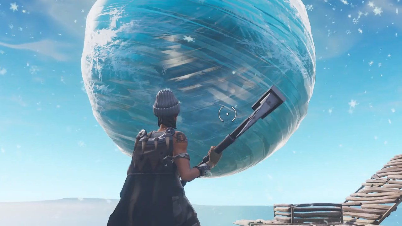 Fortnite Has An Icy Orb In The Sky And We Re All Wondering If It S